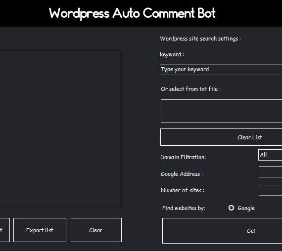Wordpess Auto Comment Bot | Advanced Backlink Tool