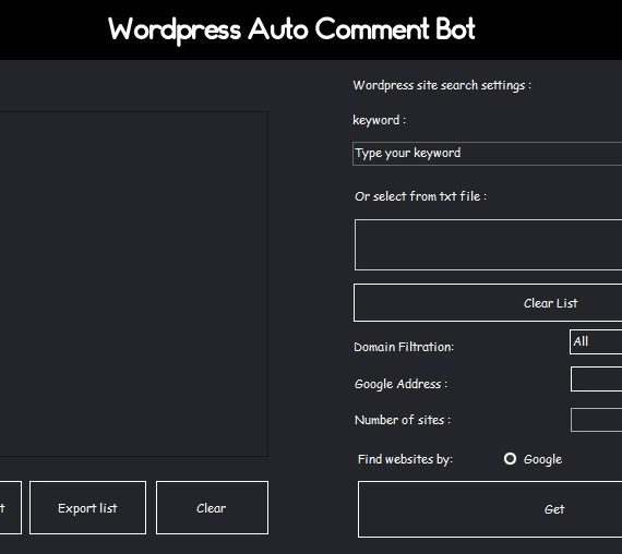 Wordpess Auto Comment Bot | Advanced Backlink Tool