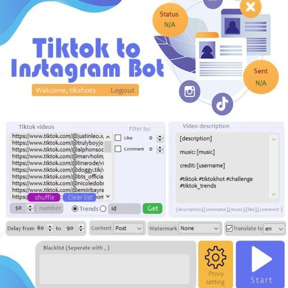 Tiktok To Instagram Bot